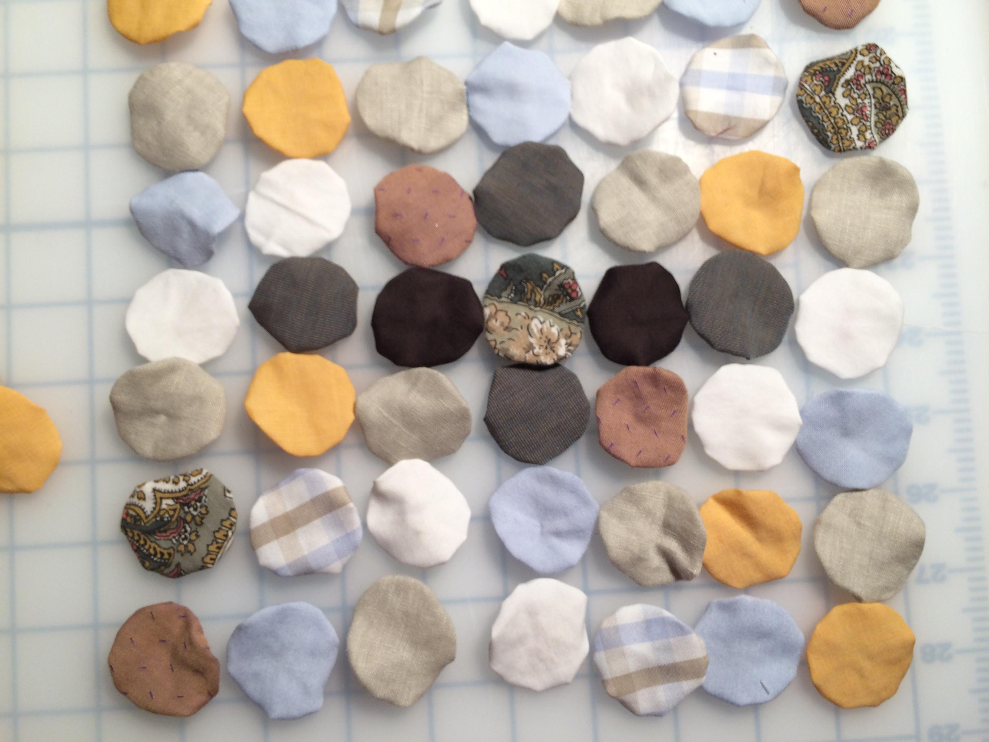 Suffolk Puff patchwork pieces