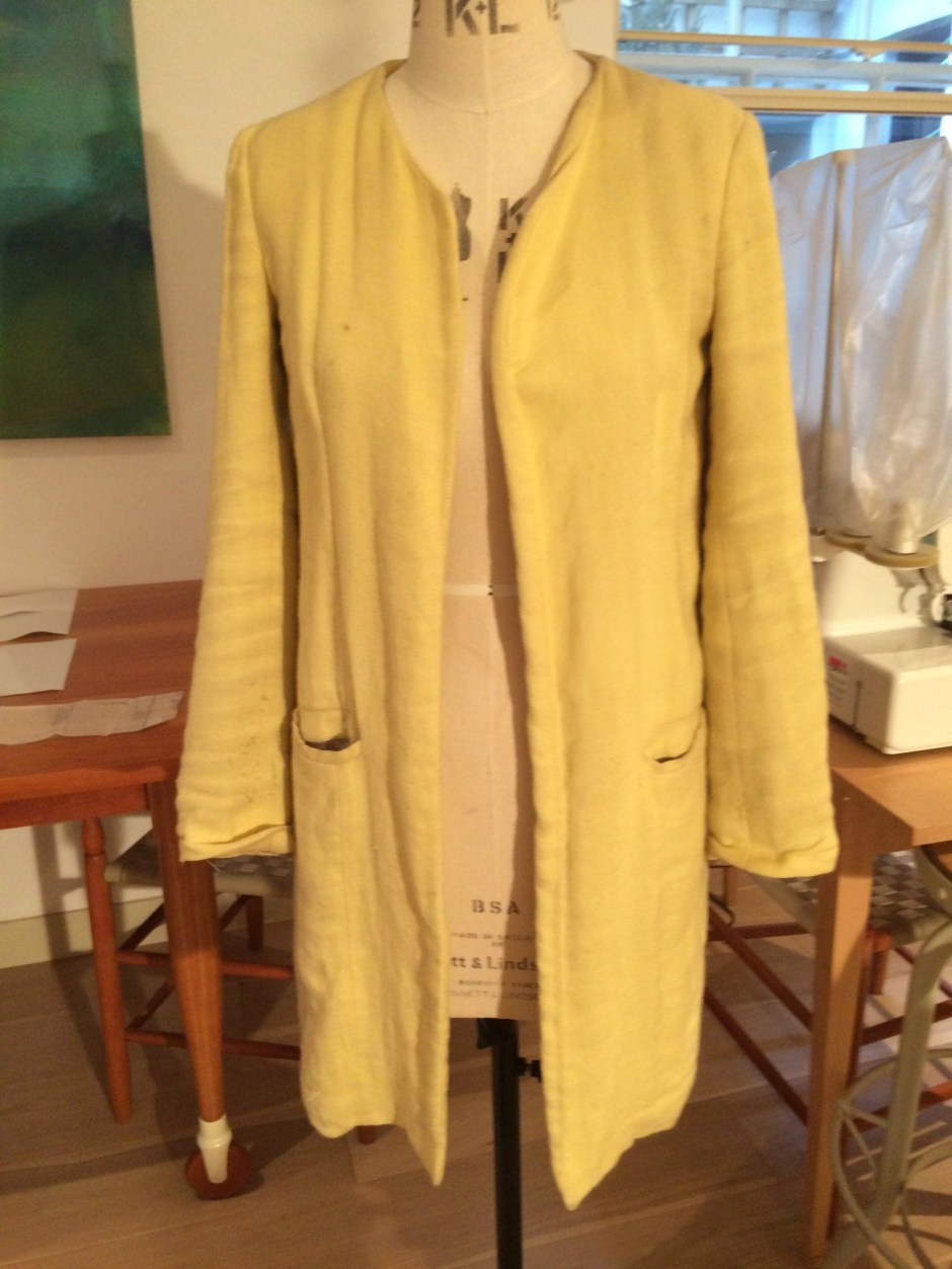 Yellow coat from Zara