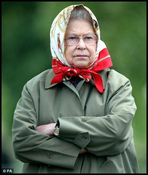 HRH dressed for the weather