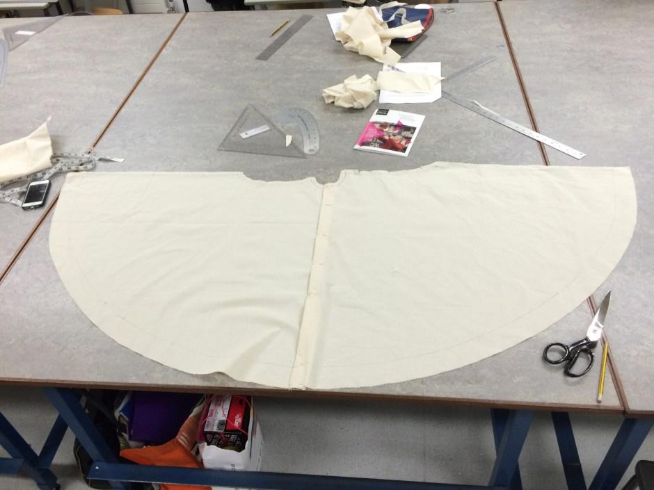 Circular skirt dress