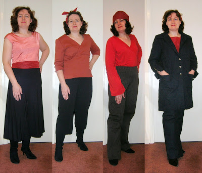 Ruth in Red and Black set