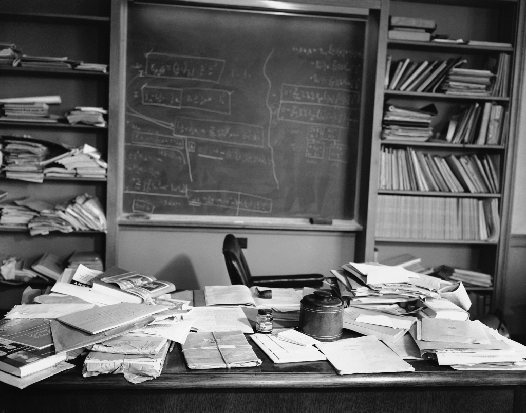 1955 Einstein's desk