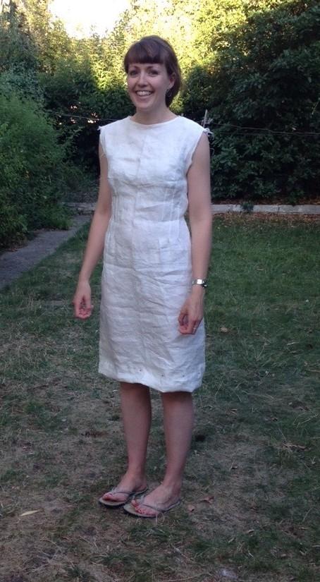 Rachel's wip linen dress