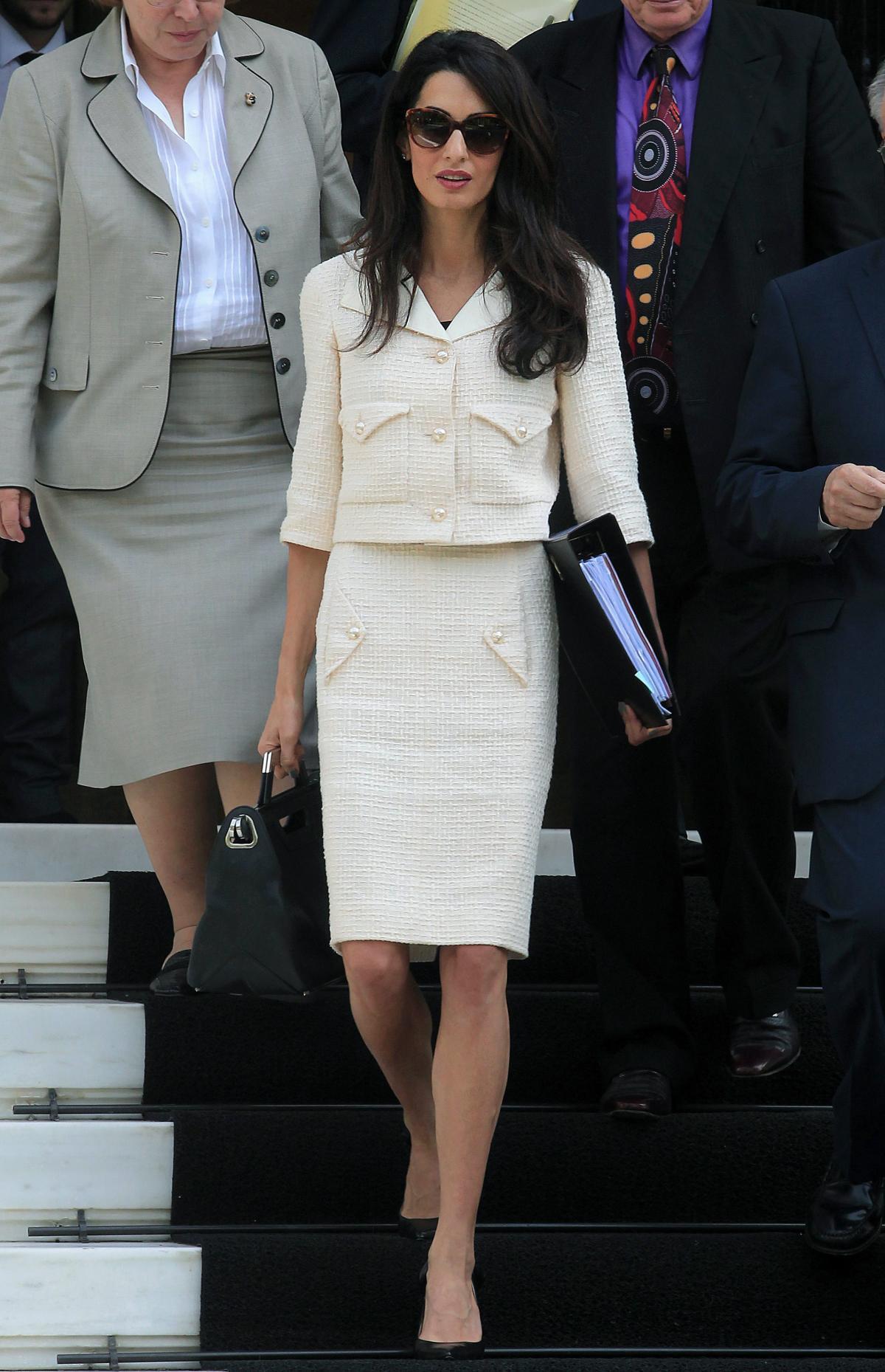 Pencil skirt suit