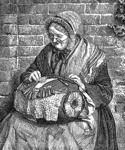 Making bobbin lace