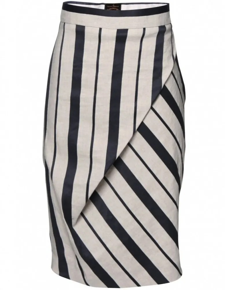 Westwood Anglomania striped draped skirt