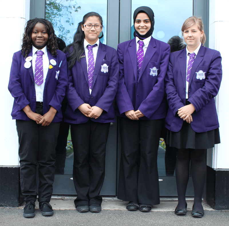 Manchester school girls in uniform ties