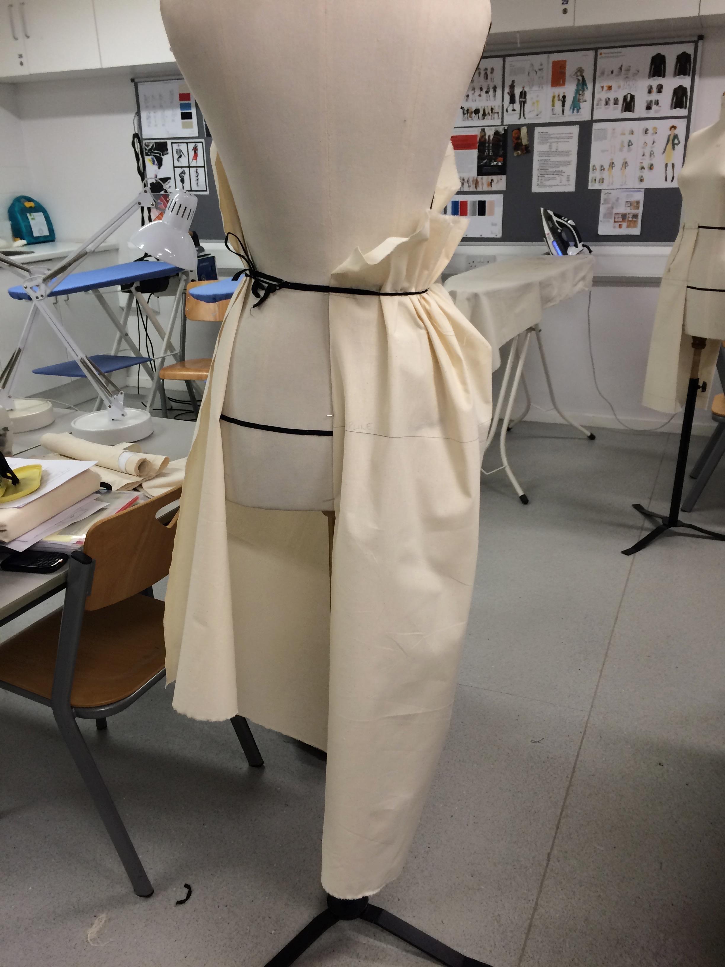 Half a draped peg skirt