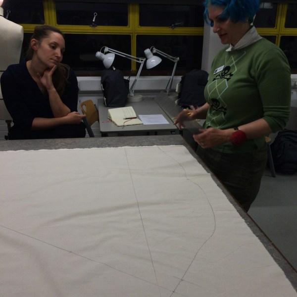 Lynda Kinne shows what the flat pattern looks like