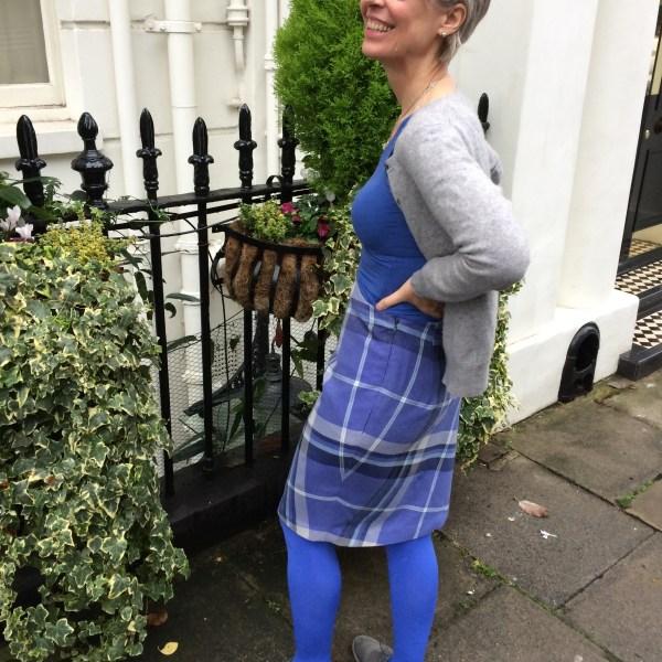 Side pleat skirt (zip)