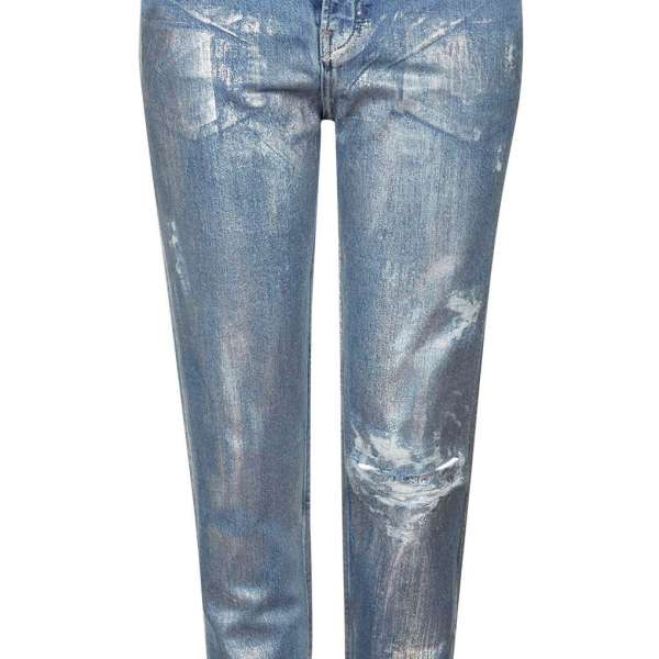 Topshop Silvered Denim
