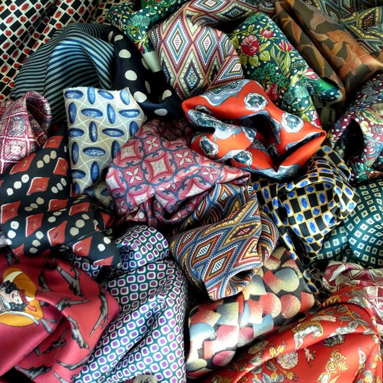 Silk tie fabrics