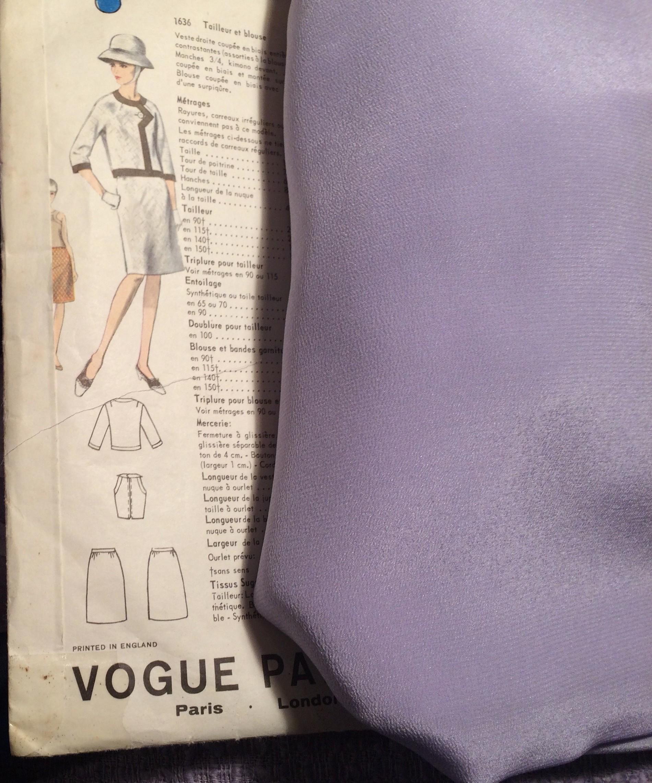 Vogue 1636 + mauve silk