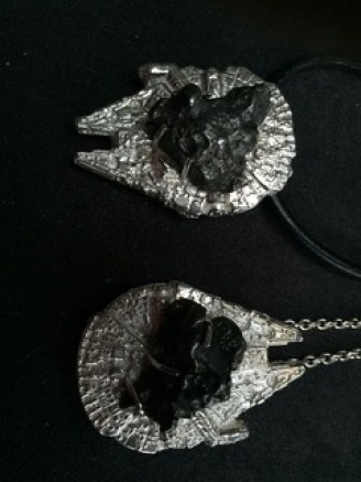 Star wars pendants with real Meteors