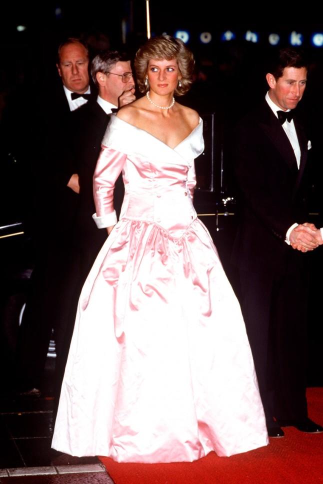 Princess Diana in light pink