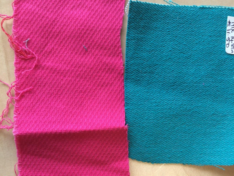 cotton pique; stretch denim