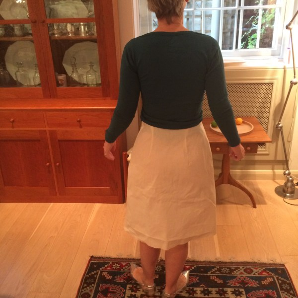 1960s skirt (back view)