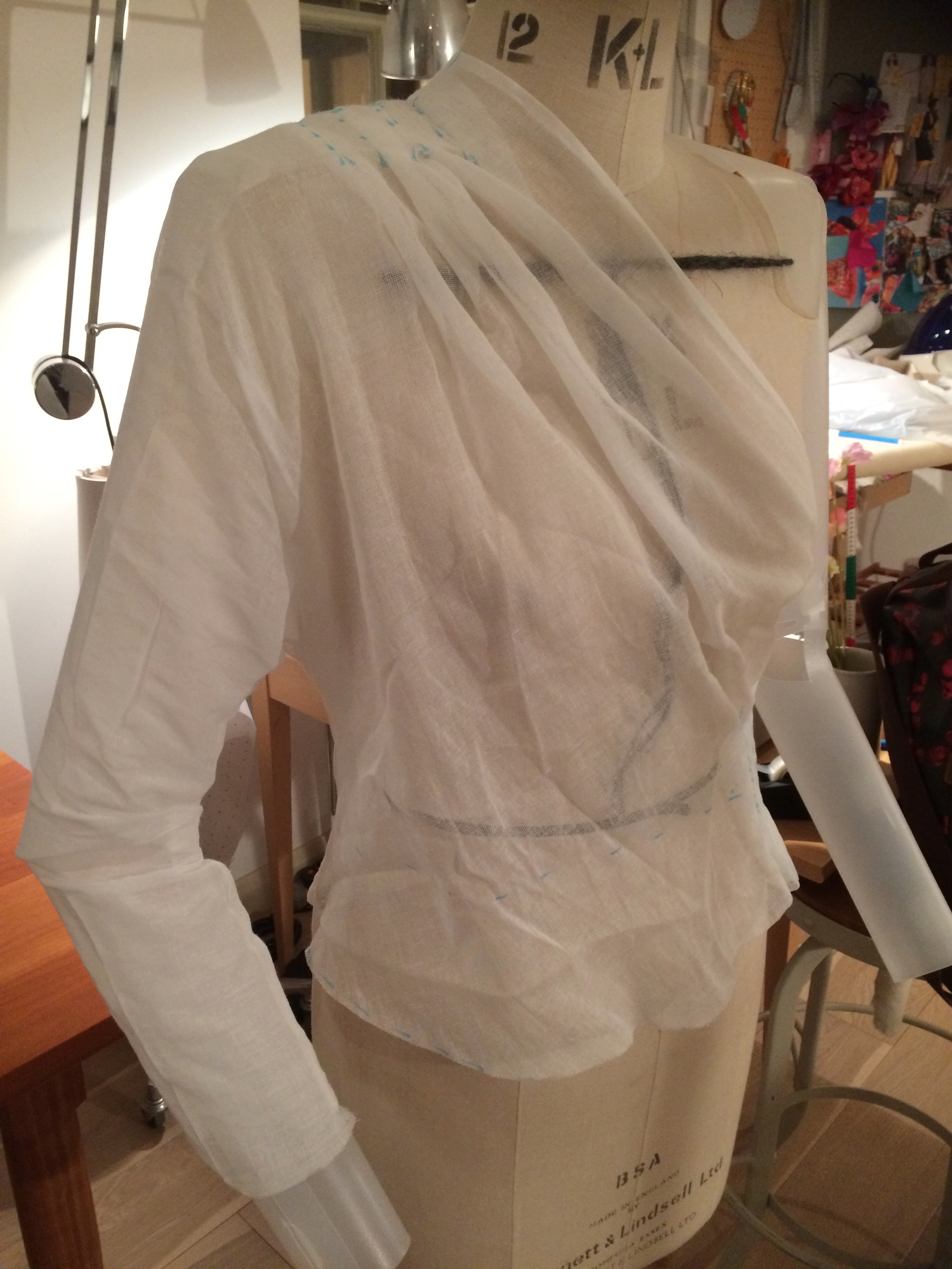 Side view Schiaparelli blouse
