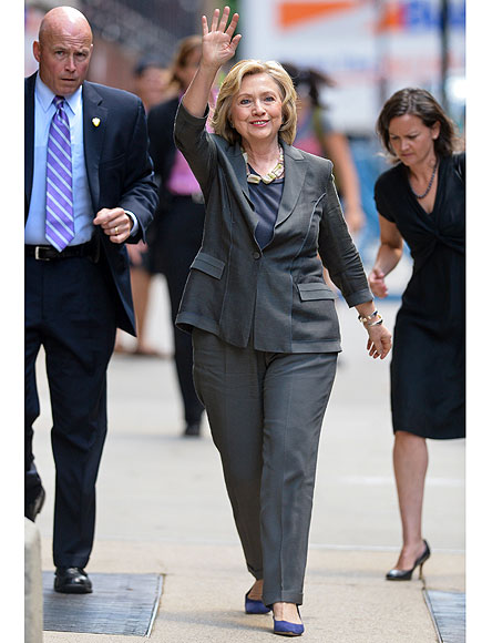 Hillary Clinton  Grey pant suit