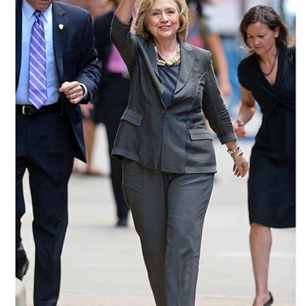 Hillary Clinton  Grey pant suit
