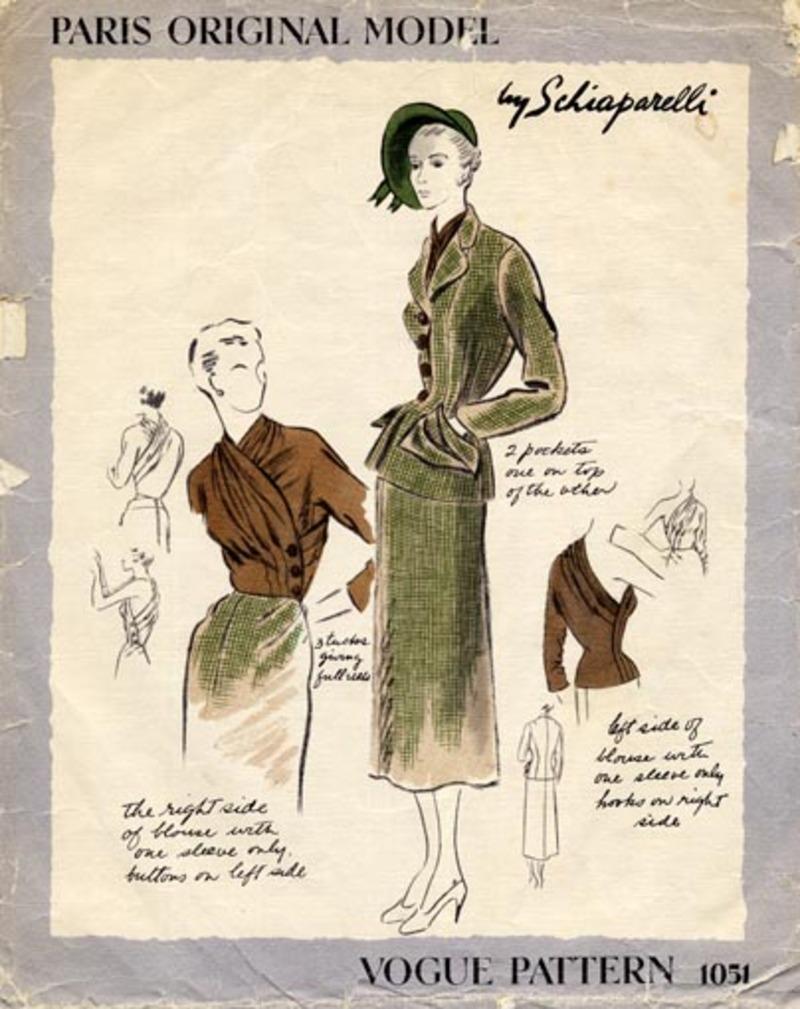 Vogue 1051 Schiaparelli