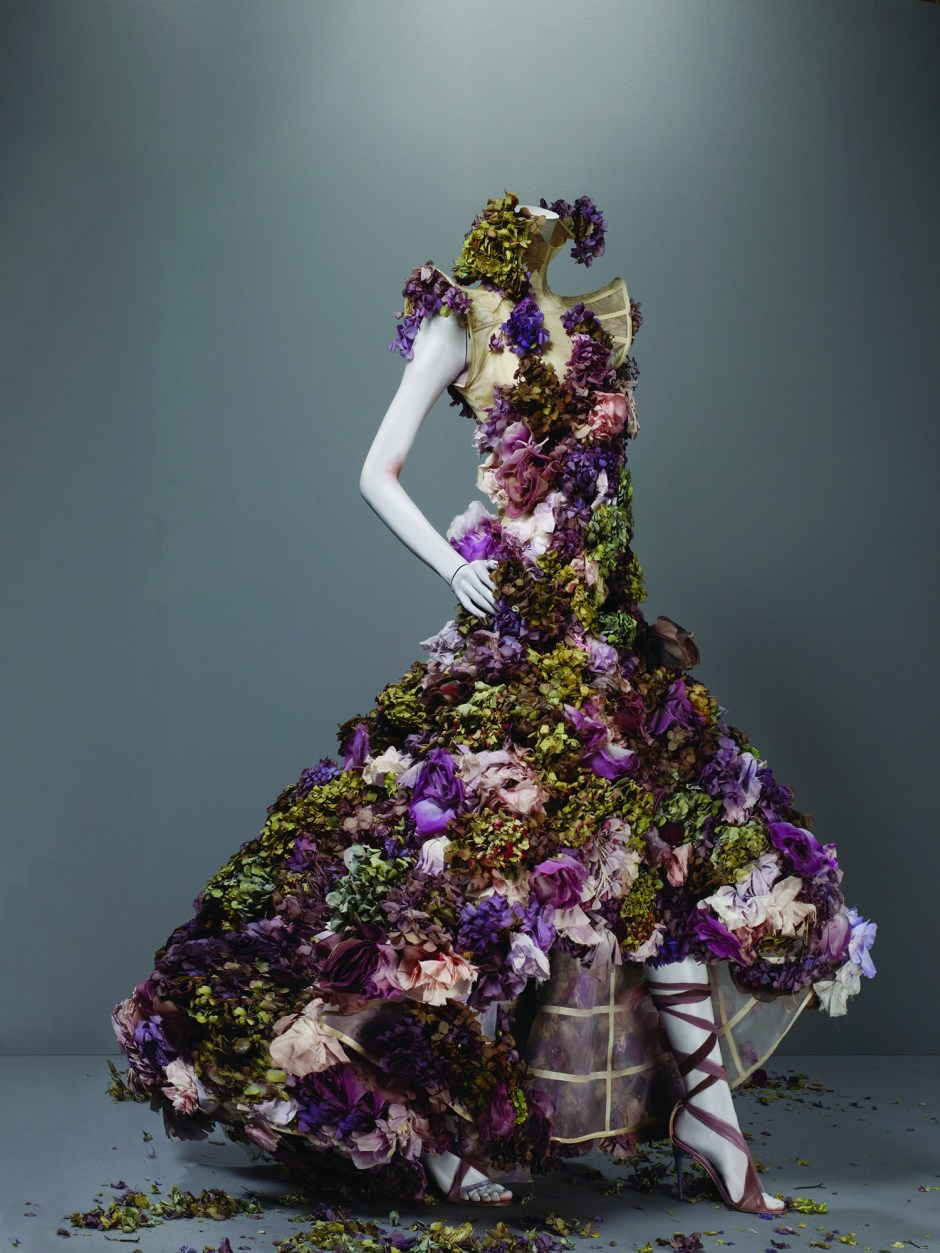 Alexander McQueen floral dress S/S 2007