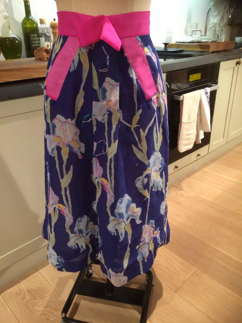Biki of Milan Iris silk chiffon skirt