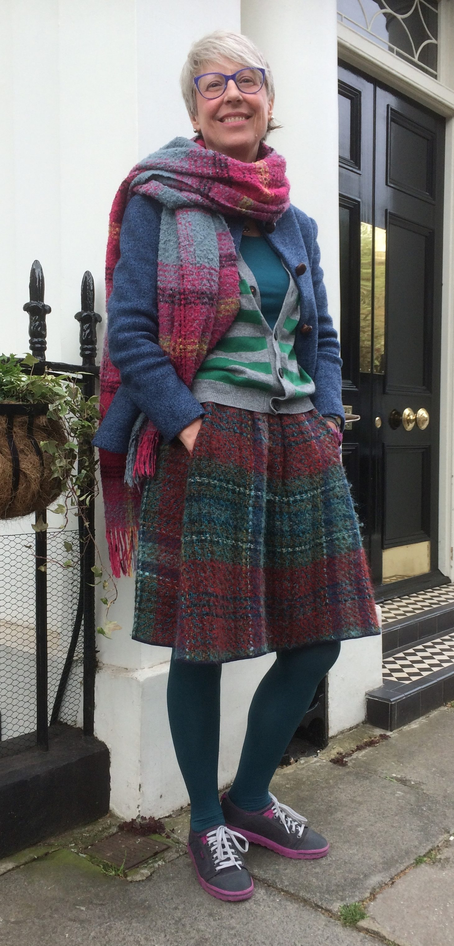 2. 1960s wool skirt and 1969 jacket in boiled wool