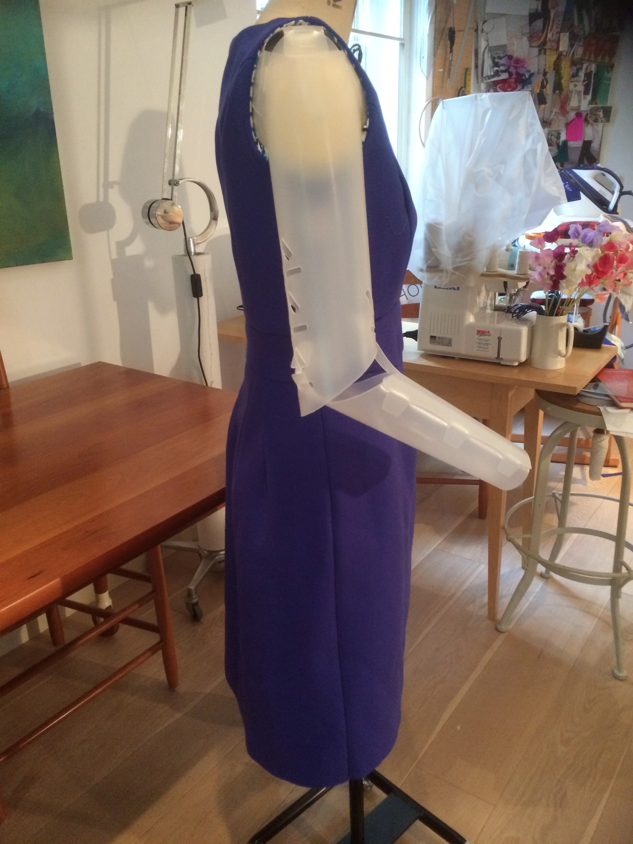 Dress with waistband (unfinished) side view