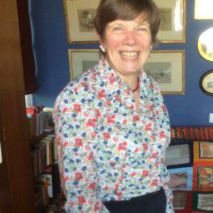 Bridget in a Liberty print blouse