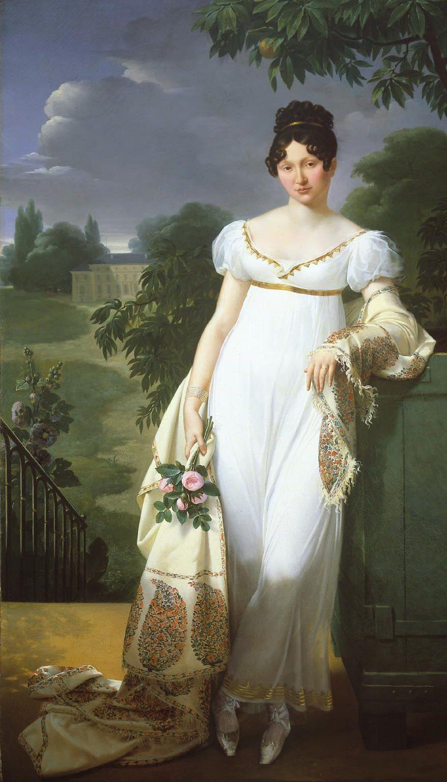 1808 the classic Empire line dress