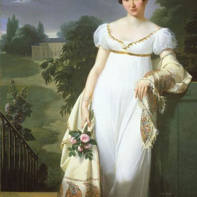 1808 the classic Empire line dress