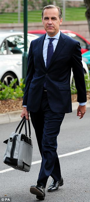 Mark Carney suited and booted