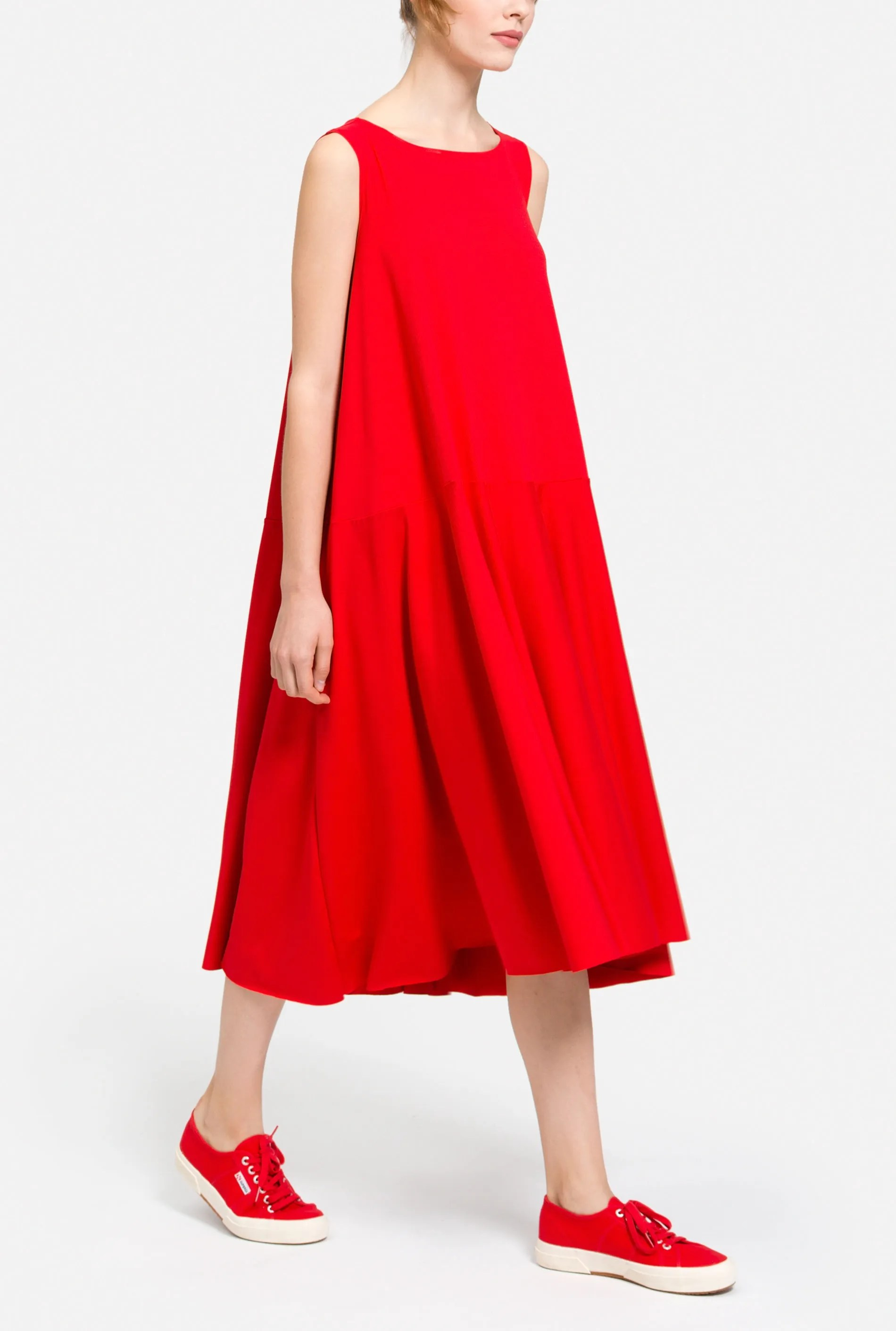 red tent dress