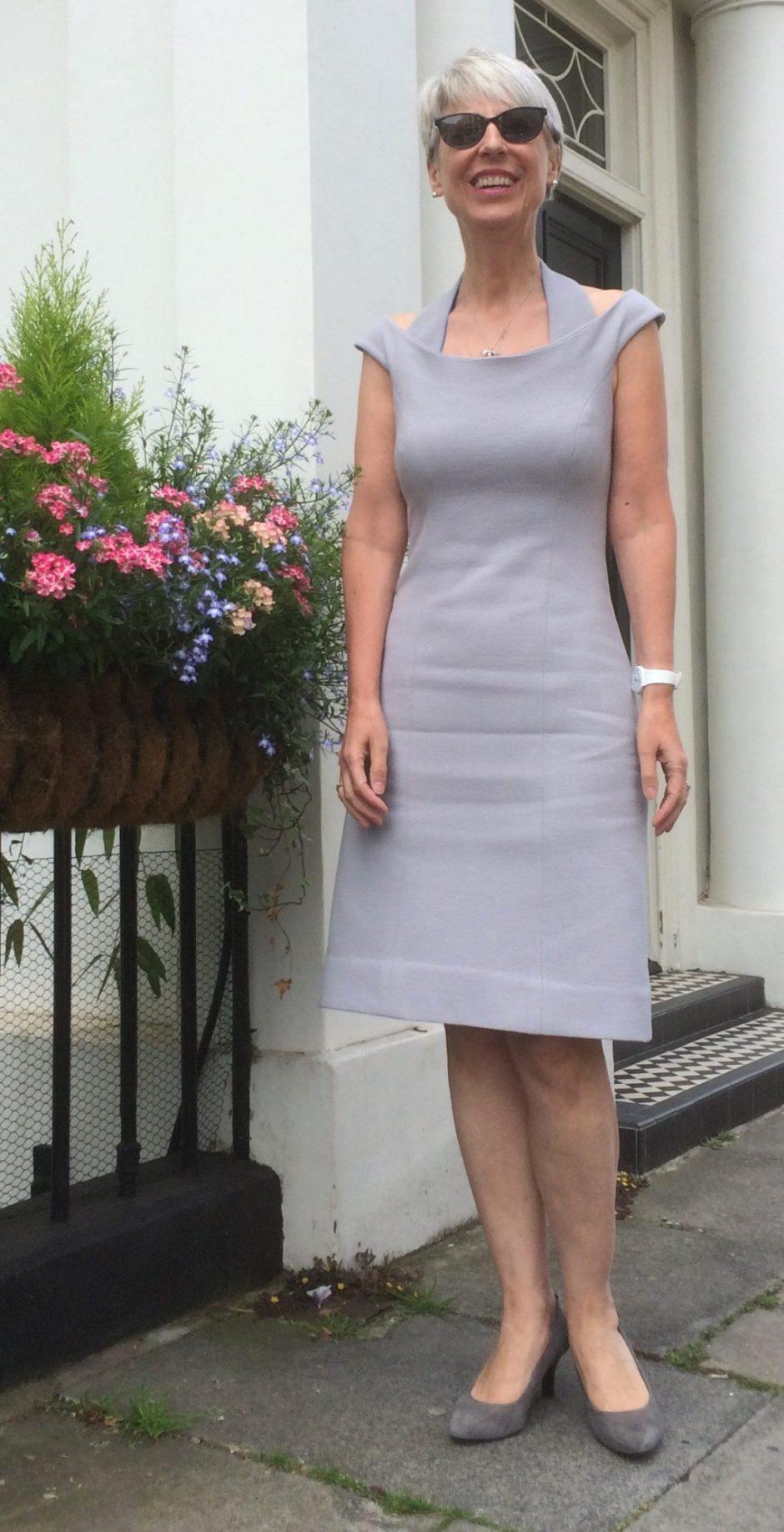 Off the shoulder halter dress