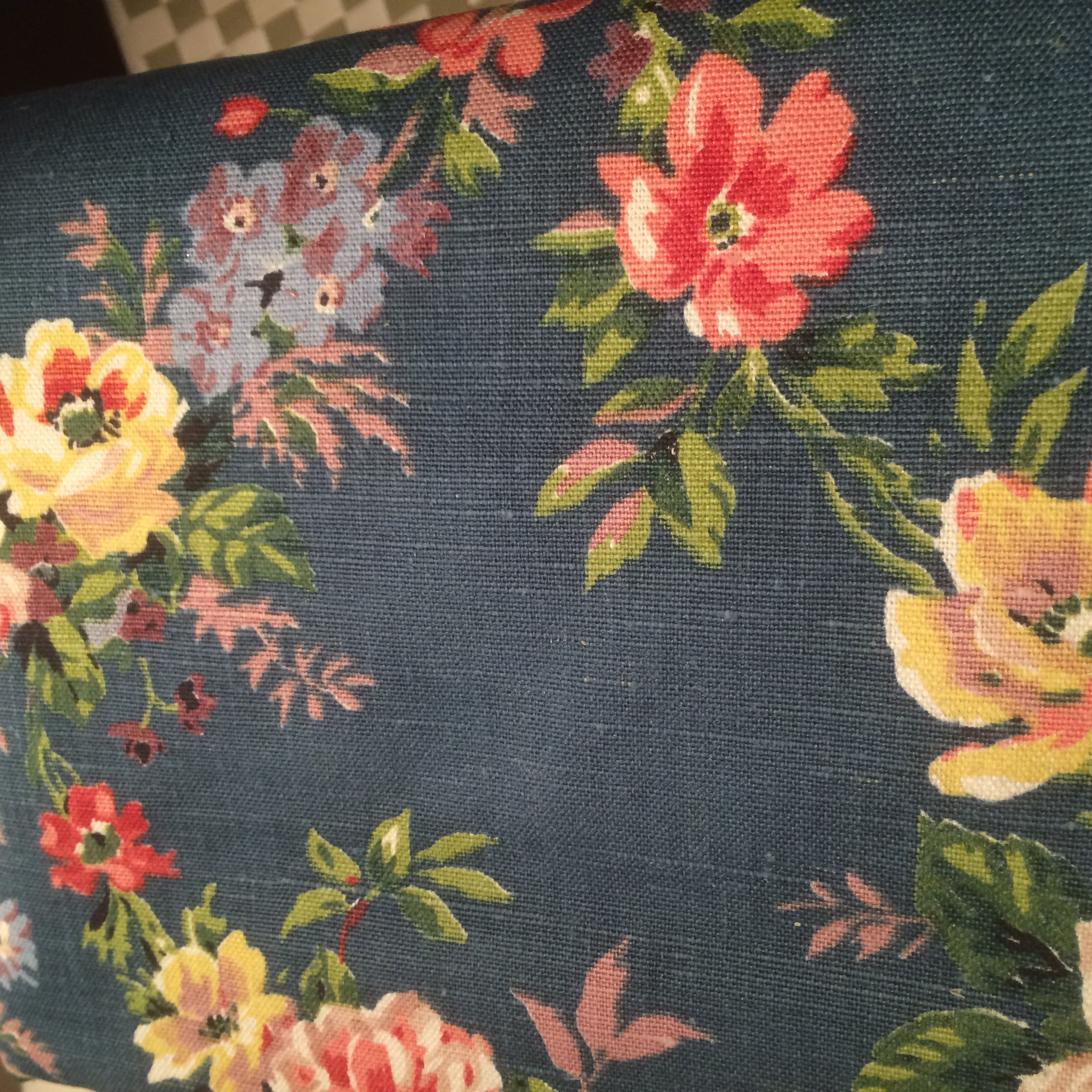 Vintage furnishing fabric