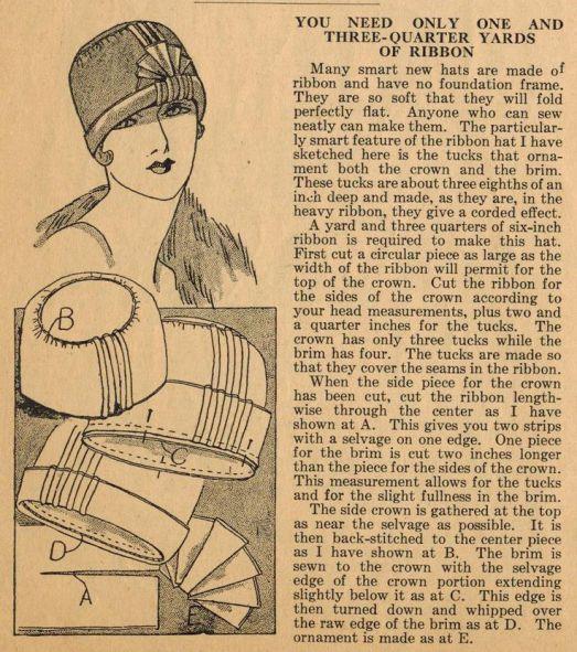 free vintage hat pattern