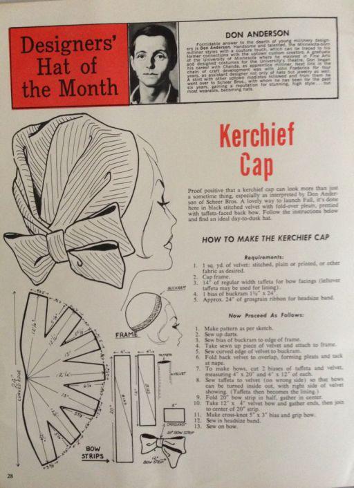 1950s kerchief turban