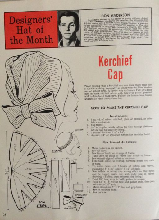 1950s kerchief turban