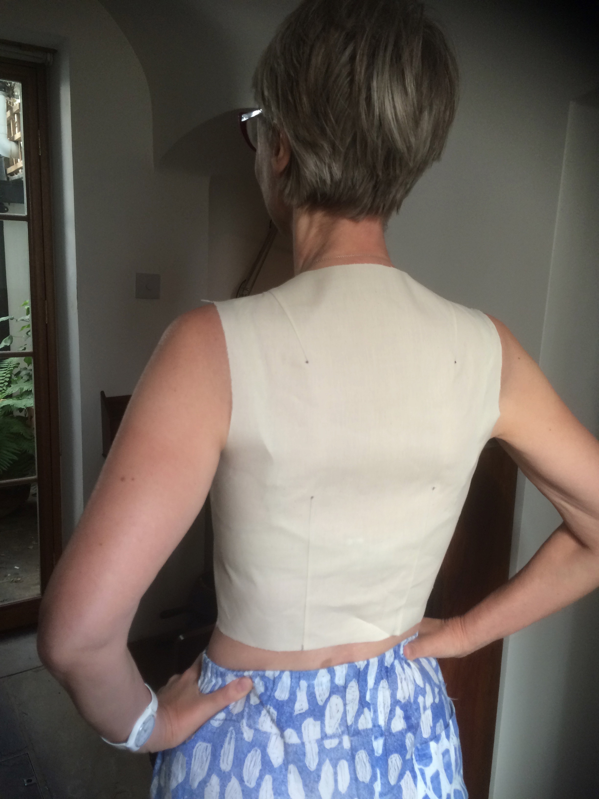 Back of toile