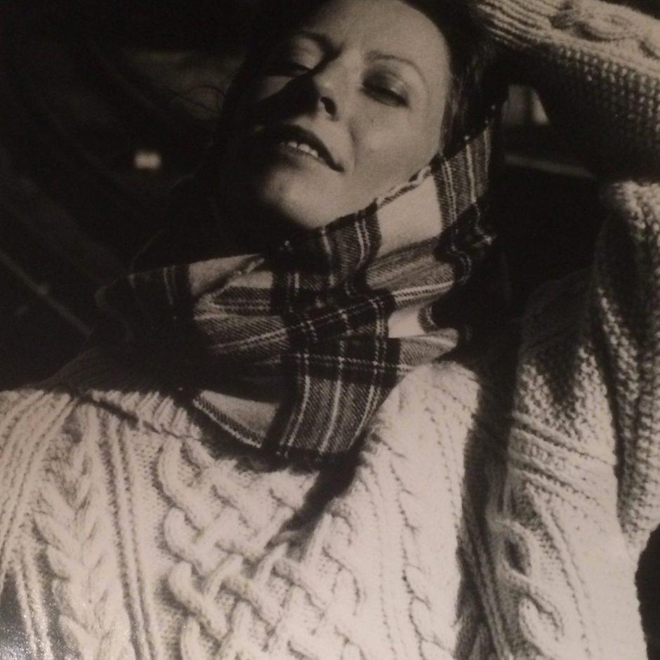 Arran sweater and tartan scarf: John Davies