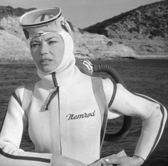 1960s pastel scuba suit