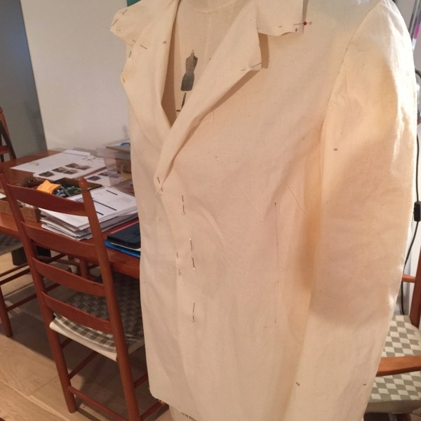 1940s sports jacket toile (sleeve)