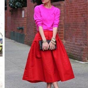 Full skirt in orange