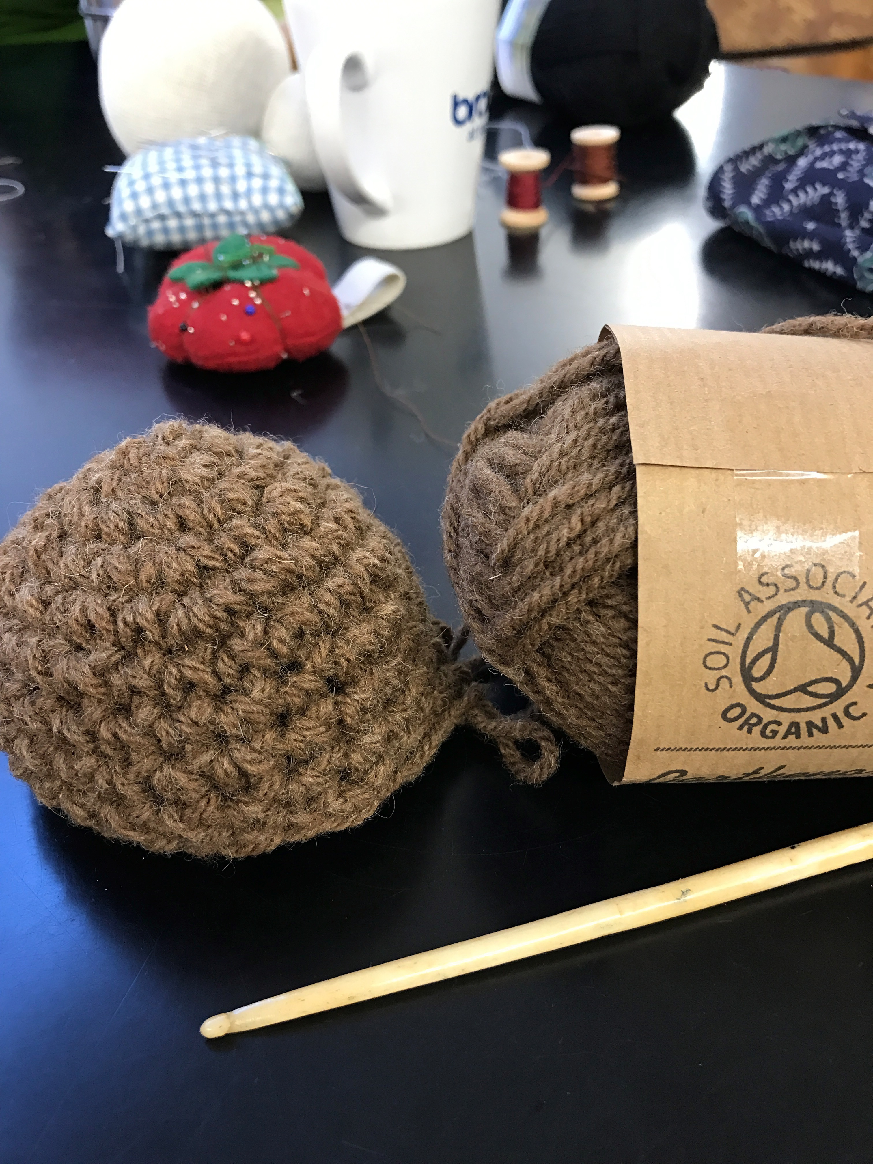 Crocheted wig base