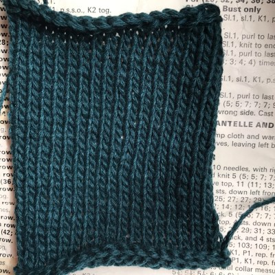 Swatch of cashmere DK in Holly