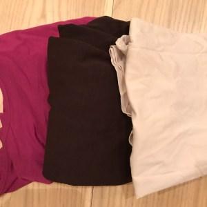 Deep pink/Brown/Beige Uniqlo heat tech T shirts