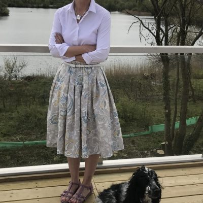 Pleated skirt, with Ruby