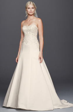 Semi straight figure (Davids Bridal)