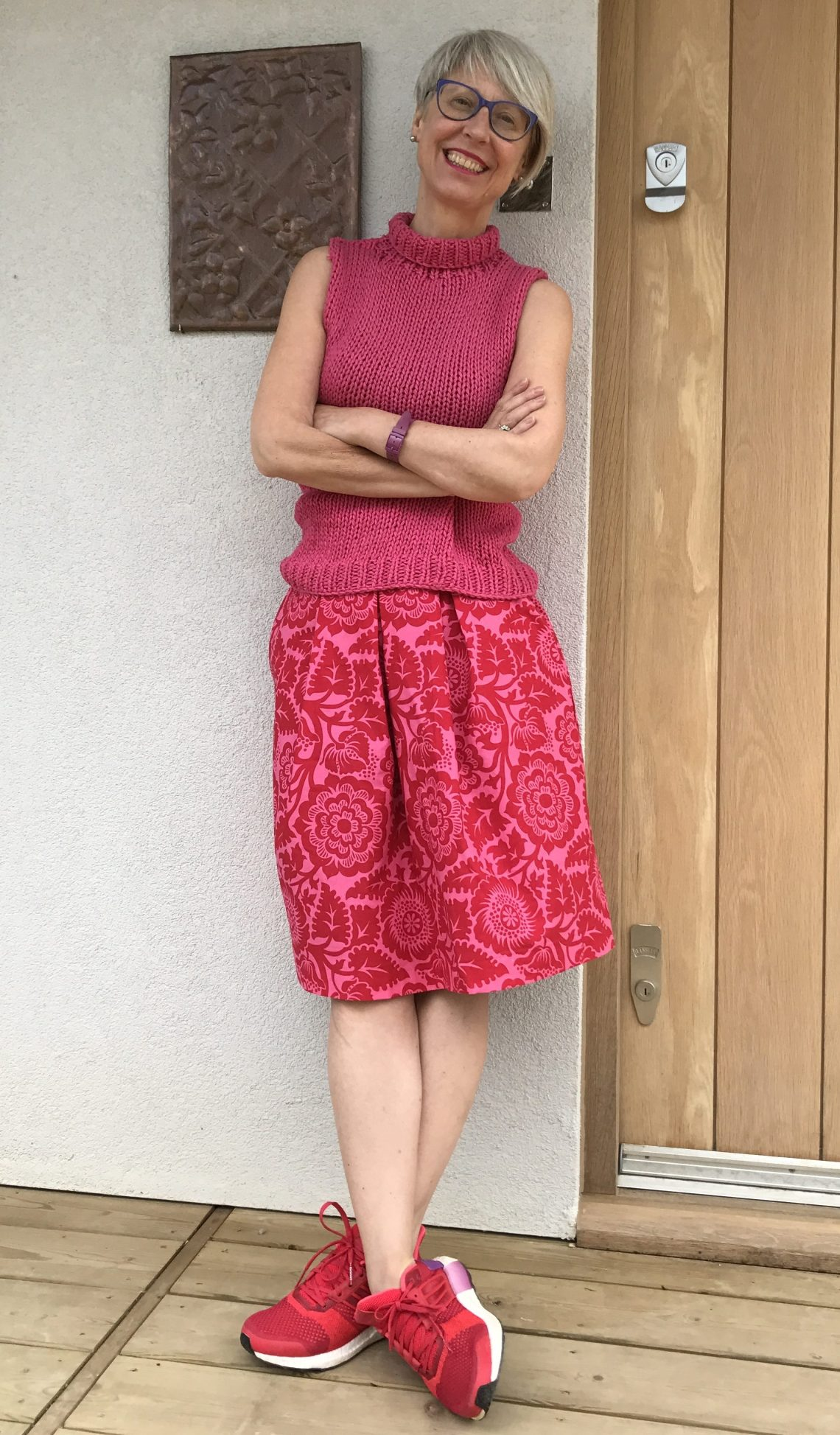 Sew magazine pleated skirt